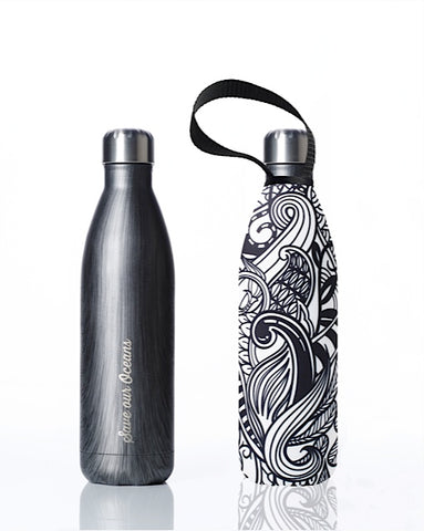 BBBYO Future Bottle + carry cover - stainless steel insulated bottle - 750 ml - Blackwood Koru