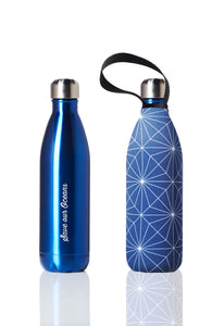 BBBYO Future Bottle + carry cover - stainless steel insulated bottle - 750 ml - Cross print
