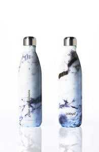 BBBYO Future Bottle + carry cover - stainless steel insulated bottle - 750 ml - Marble print