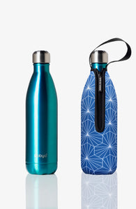 BBBYO Future Bottle + carry cover - stainless steel insulated bottle - 500 ml - Diamond print