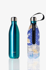 BBBYO Future Bottle + carry cover - stainless steel insulated bottle - 750 ml - Diamonte print
