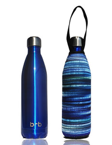 BBBYO Future Bottle + carry cover - stainless steel insulated bottle - 1000 ml - Electric print