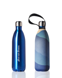 Future Bottle + carry cover - stainless steel insulated bottle - 1000 ml - Mist print
