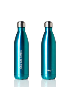 BBBYO Future Bottle + carry cover - stainless steel insulated bottle - 750 ml - Mintee print