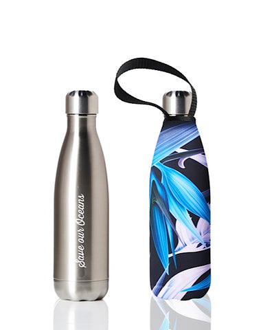 BBBYO Future Bottle + carry cover - stainless steel insulated bottle - 500 ml - Paradise print