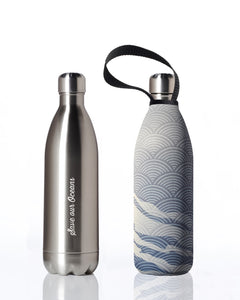 BBBYO Future Bottle + carry cover - stainless steel insulated bottle - 1000 ml - Sheen print
