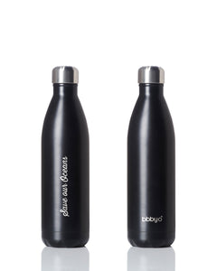 BBBYO Future Bottle + carry cover - stainless steel insulated bottle - 750 ml - Smoke print