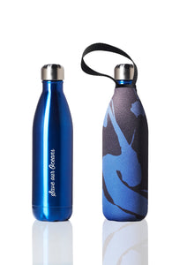 BBBYO Future Bottle + carry cover - stainless steel insulated bottle - 750 ml - Storm print