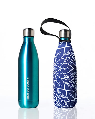* Daily Deal - BBBYO Future Bottle + carry cover - stainless steel insulated bottle - 500 ml -Tokyo print