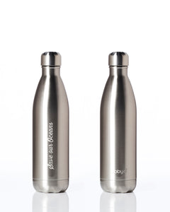 BBBYO Future Bottle + carry cover - stainless steel insulated bottle - 750 ml - Tri print