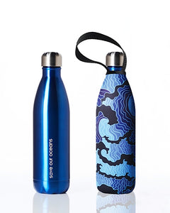 BBBYO Future Bottle + carry cover - stainless steel insulated bottle - 750 ml - Tsumi print
