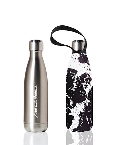 BBBYO Future Bottle + carry cover - stainless steel insulated bottle - 500 ml - Whitewater print