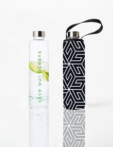 Glass is Greener + carry cover - 1000 ml - Amaze print