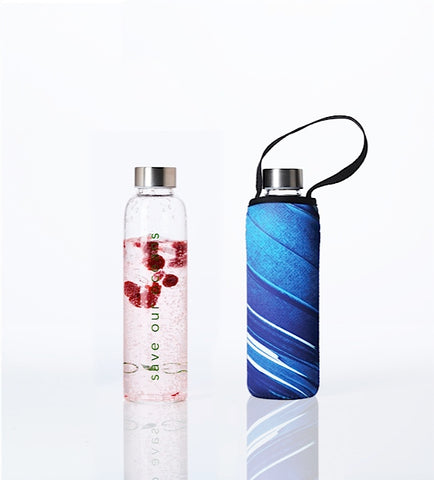 Glass is Greener + carry cover - 570 ml - Breeze print