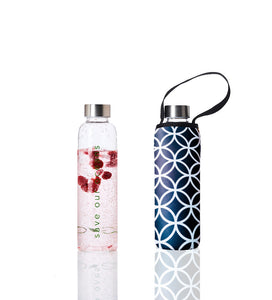 Glass is Greener + carry cover - 570 ml - Deca print