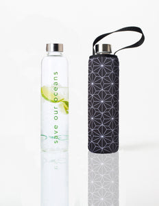 Glass is Greener + carry cover - 750 ml - Tetra print