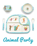 * Super Sale - Bambu - 5 piece mealtime set - Animal Party