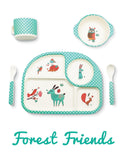 * Super Sale - Bambu - 5 piece mealtime set - Forest Friends