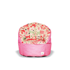 * Super Sale - Pumpkin Beanbag Chair (Kids) - Pink whale print