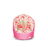 Pumpkin Beanbag Chair (Kids) - Pink whale print