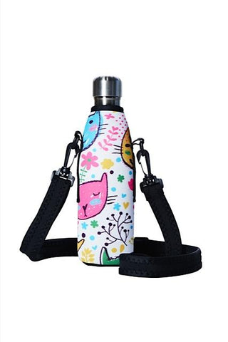 TRVLR by BBBYO carry cover - with shoulder strap - 500 ml - Cats print