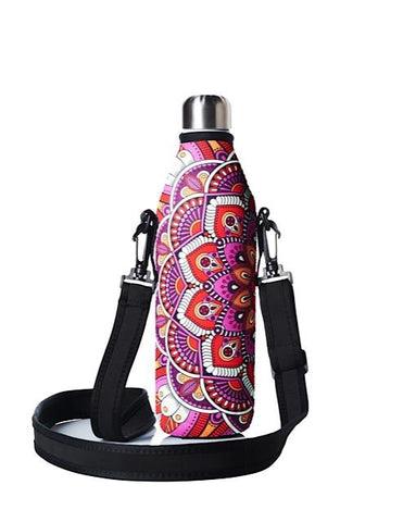 * Super Sale - TRVLR by BBBYO carry cover - with shoulder strap - 750 ml - Mandala print