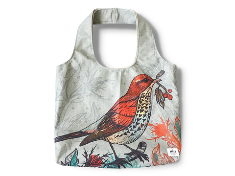 Everyday Bag by BBBYO - Poly Linen - Blue Bird print