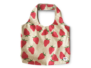 Everyday Bag by BBBYO - Poly Linen - Strawberry print