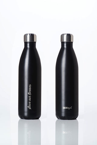 BBBYO Future Bottle - Matt Black -  Stainless Steel - Insulated - 1000 ml