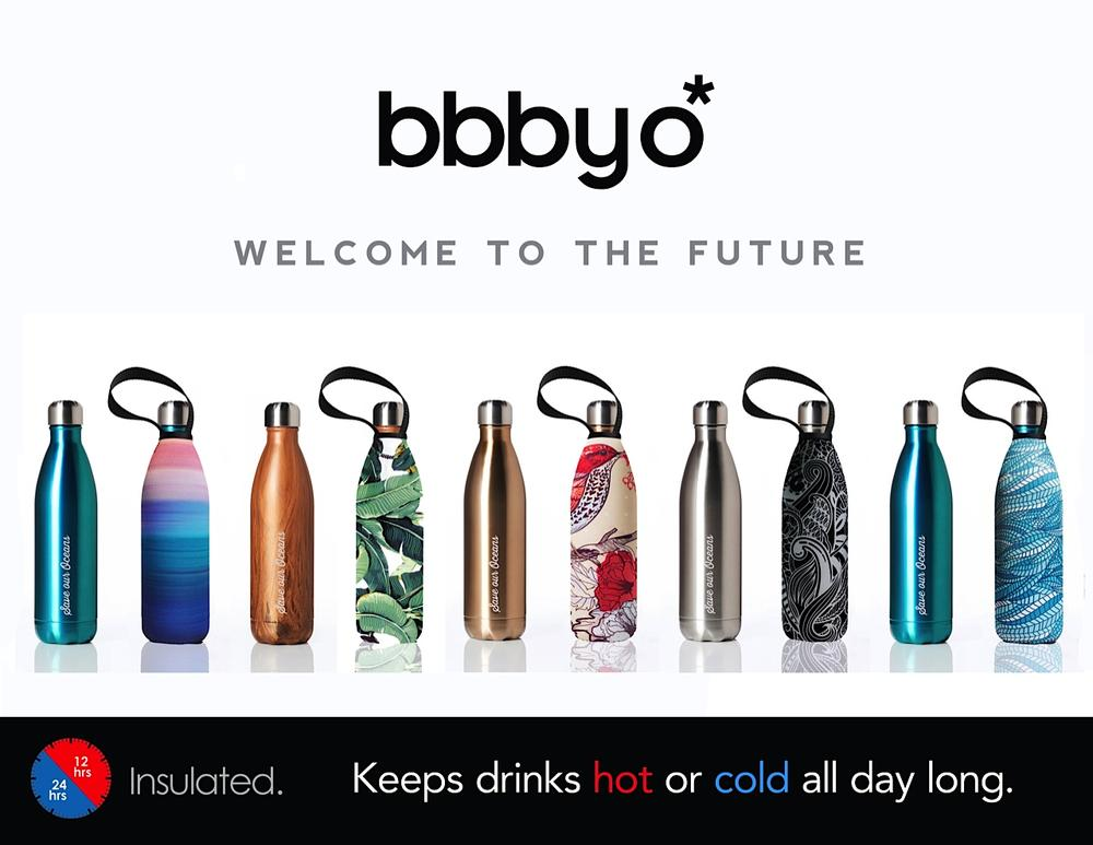BBBYO, gold, mint, stainless steel water bottle, drink bottle