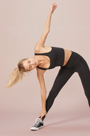 Black Compressive High-Rise Legging