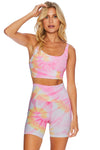 RIBBED BIKE SHORT SUNRISE TIE DYE