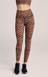 CENTURY LEGGING - HIGH RISE 7/8 CLAY ZEBRA