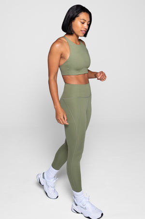 Olive Compressive High-Rise Legging