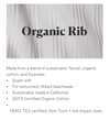West Bodysuit White Organic Rib