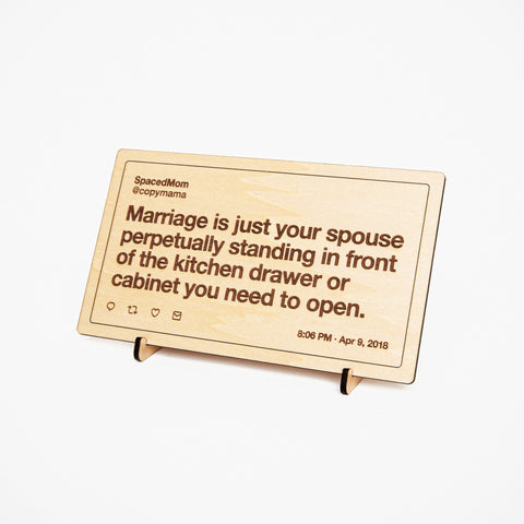 Wooden Etched Tweet: Small