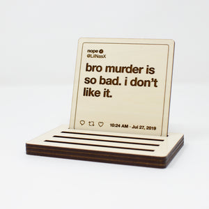 Lil Nas X Tweets Wooden Coasters: Set #1