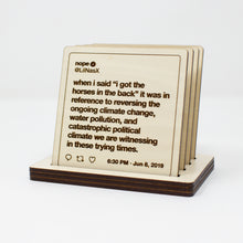Load image into Gallery viewer, Lil Nas X Tweets Wooden Coasters: Set #2