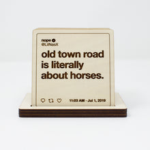 Load image into Gallery viewer, Lil Nas X Tweets Wooden Coasters: Set #3