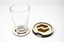 Load image into Gallery viewer, Wooden Logo Coasters