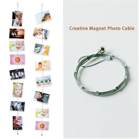 1.5/3M Magnetic Cable Photo Frame Buckle Anniversary Decor Wall Art Hanging Banner Photo Rope Picture String Home Decorations