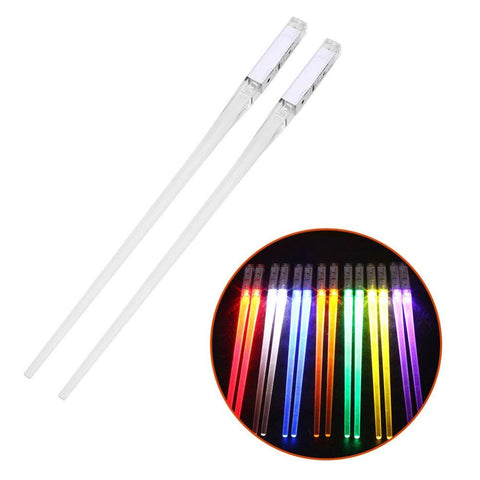 1 Pair LED Light Up Chopsticks Sticks Dinning Room Dinner Party Tableware Funny Drop Shipping