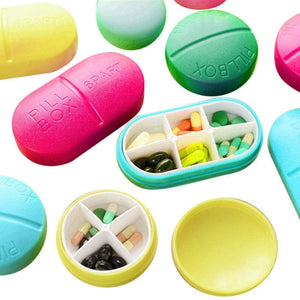 1 Pcs Cute Compartment Travel Pill Box Organizer Tablet Medicine Storage Dispenser Container Holder Case New Arrival 12 style