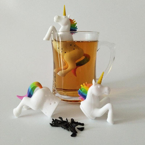 1 Pcs Silicone Creative Filter Loose Unicorn Shape Leaf Herbal Spice Filter Tea Bag Food Grade Tea Infuser Strainers Diffuser
