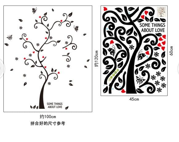 100*120Cm/40*48in 3D DIY Removable Photo Tree Pvc Wall Decals/Adhesive Wall Stickers Mural Art Home Decor