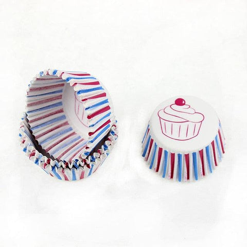 Image of 100Pc Paper Cake Forms Cupcake Baking Cup Case Party Cake Decoration Cupcake Paper Party Supplies Baking Tools Muffin Cupcake