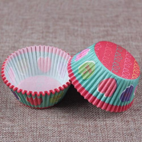 100Pc Paper Cake Forms Cupcake Baking Cup Case Party Cake Decoration Cupcake Paper Party Supplies Baking Tools Muffin Cupcake