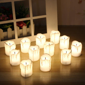 12 PCS of LED Electric Battery Powered Tealight Candles Warm White Flameless for Holiday/Wedding Decoration