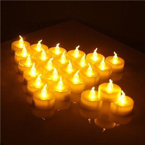 12 pcs/pack Flickering Flameless LED Tea light Flicker Tea Candle Light Party Wedding Candels Safety Home Decoration