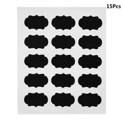Image of 15/36/75Pcs/set Black Decals DIY Kitchen Jar Canisters Sugar Bowl Labels Stickers Wall Chalkboard Sticker Home Wall Decoration